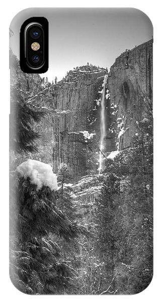 Yosemite Falls In Winter IPhone Case