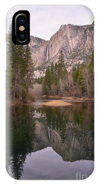 Yosemite Falls Reflection IPhone Case