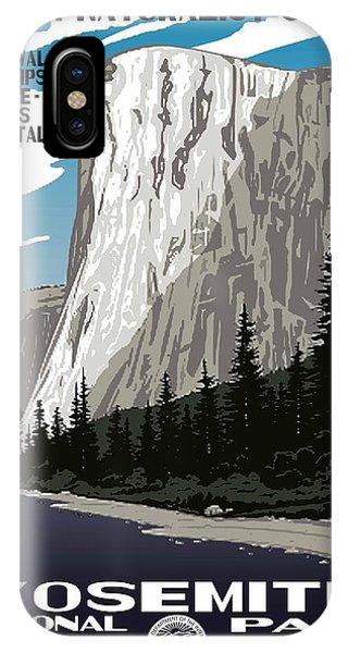 Yosemite National Park Vintage Poster 2 IPhone Case