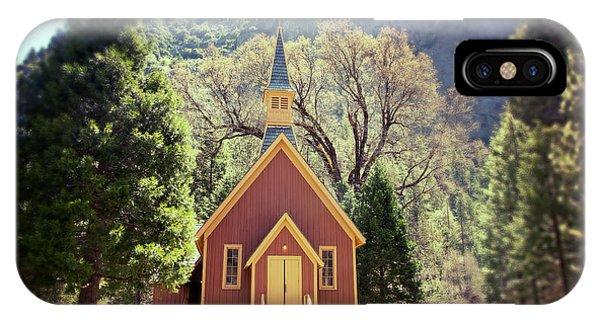 Chapel iPhone Case - Yosemite Valley Chapel Lomo by Jane Rix