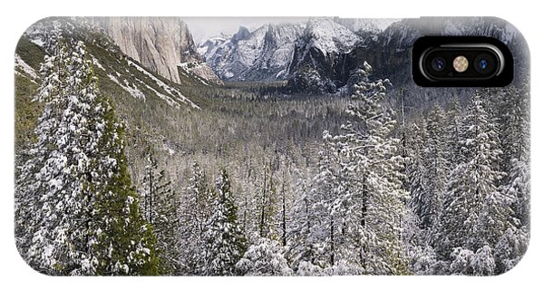 Yosemite Valley In Winter IPhone Case