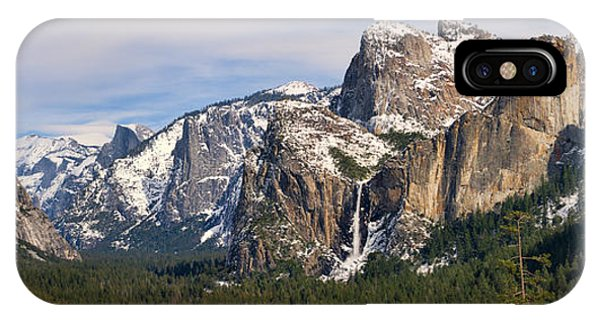Yosemite Valley With Snow IPhone Case