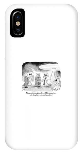 You Aren't The Only Intelligent Life IPhone Case