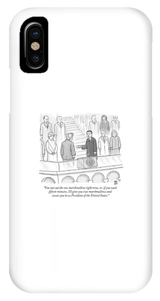 You Can Eat The One Marshmallow Right Now IPhone Case
