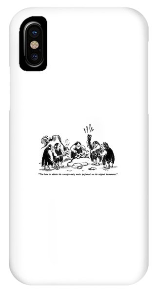Bone iPhone Case - You Have To Admire The Concept - Early Music by Lee Lorenz