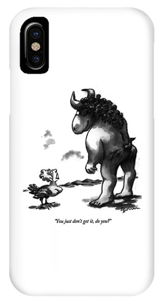 Minotaur iPhone Case - You Just Don't Get by Eldon Dedini