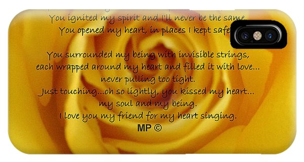 IPhone Case featuring the photograph You Poem On Yellow Rose by Marian Palucci-Lonzetta