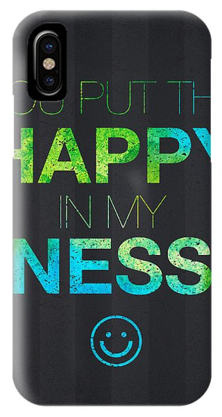 Mottled iPhone Case - You Put The Happy In My Ness by Aged Pixel