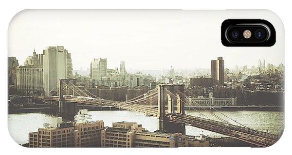 You'll Miss Her Most When You Roam ... Cause You'll Think Of Her And Think Of Home ... The Good Old Brooklyn Bridge IPhone Case