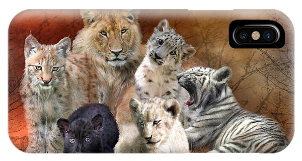 Lynx iPhone Case - Young And Wild by Carol Cavalaris