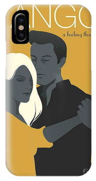 Celebration iPhone Case - Young Couple Dancing Tango by Lainspiratriz