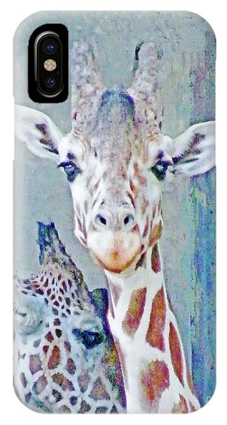 Young Giraffes IPhone Case