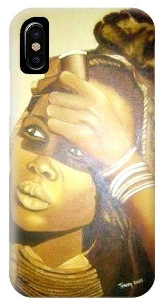 Young Himba Girl - Original Artwork IPhone Case