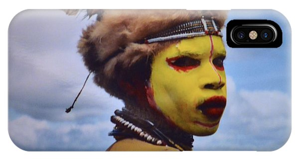Young Huli Warrior Papua New Guinea IPhone Case