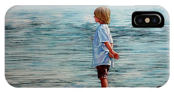 Young Lad By The Shore IPhone Case
