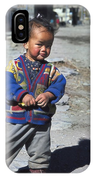 Young Nepalese Girl In Manang Phone Case by Richard Berry