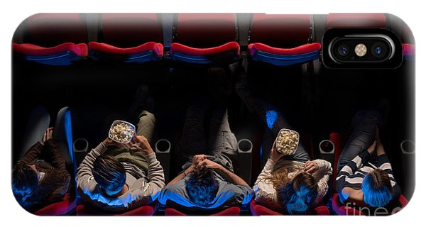Young People Sitting At The Cinema Phone Case by Stock-asso