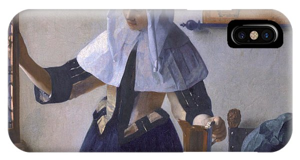 iPhone Case - Young Woman With A Water Pitcher by Johanes Vermeer