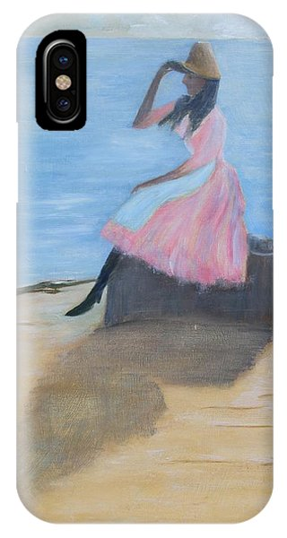 Young Women On The Beach IPhone Case