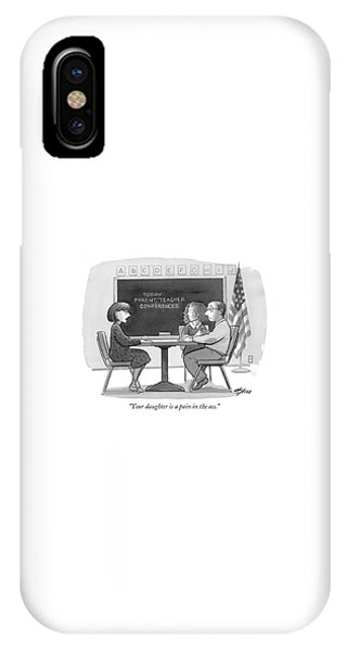 Your Daughter Is A Pain In The Ass IPhone Case