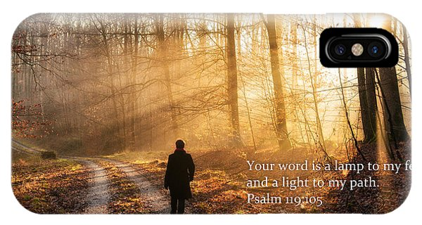 Your Word Is A Light To My Path Bible Verse Quote IPhone Case