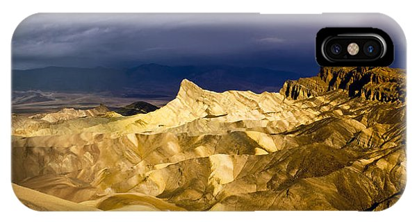 Zabriske Point Panorama 03 IPhone Case
