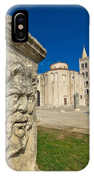 Zadar Old Roman Square Artefacts IPhone Case