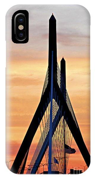 Zakim Bridge iPhone Case - Zakim Bridge In Boston by Elena Elisseeva