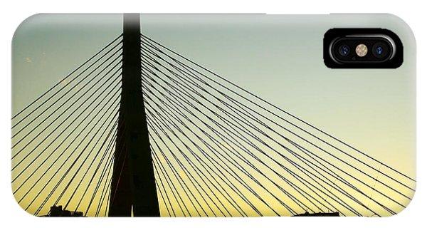 Zakim Bridge iPhone Case - Zakim Bridge Silhouette by Nikolyn McDonald