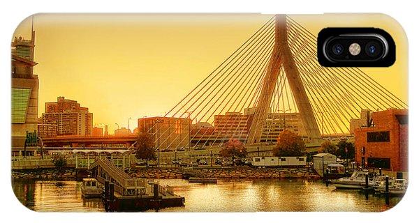 Zakim Bridge iPhone Case - Zakim Bridge Sunset by Nikolyn McDonald