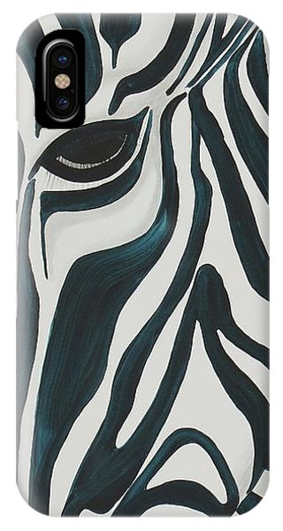 IPhone Case featuring the painting Zebra by Aliya Michelle