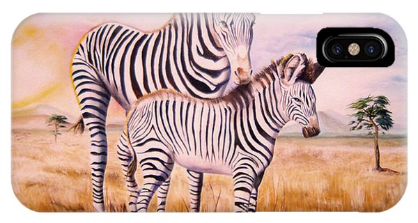 Zebra And Foal IPhone Case