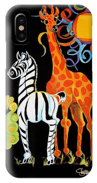 Zebra And The Giraffe IPhone Case