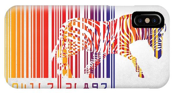 Vector iPhone Case - Zebra Barcode by Mark Ashkenazi