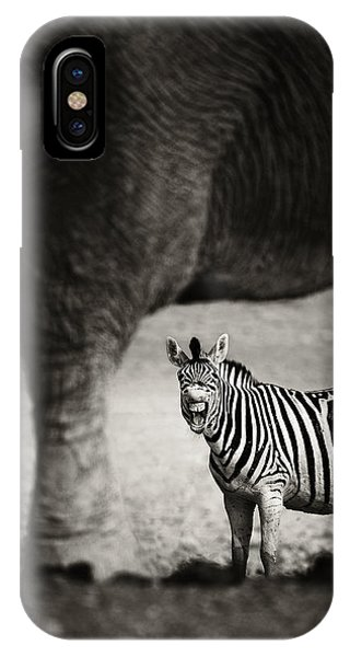 Mammal iPhone Case - Zebra Barking by Johan Swanepoel