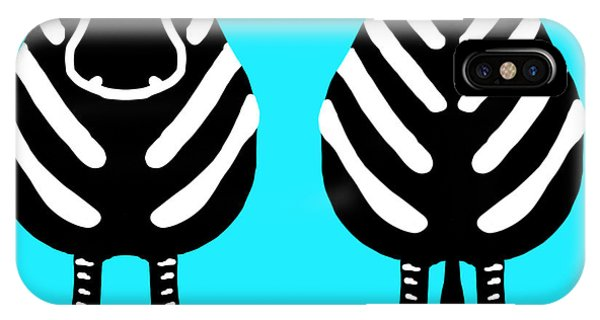 Zebra - Both Ends IPhone Case