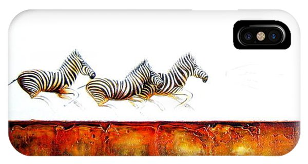 Zebra Crossing - Original Artwork IPhone Case