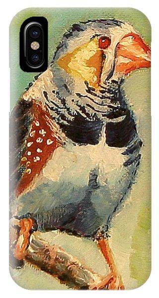 Zebra Finch IPhone Case