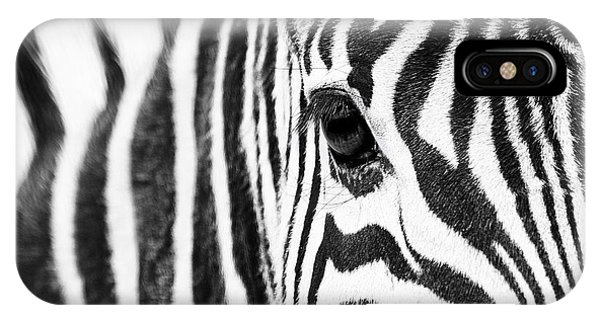 Zebra Gaze IPhone Case