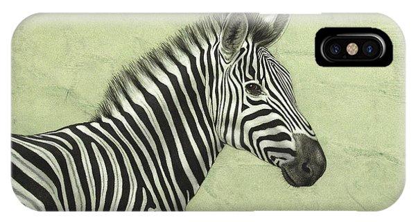 Zebra iPhone Case - Zebra by James W Johnson