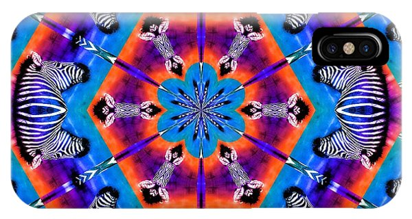Zebra Kaleidoscope IPhone Case