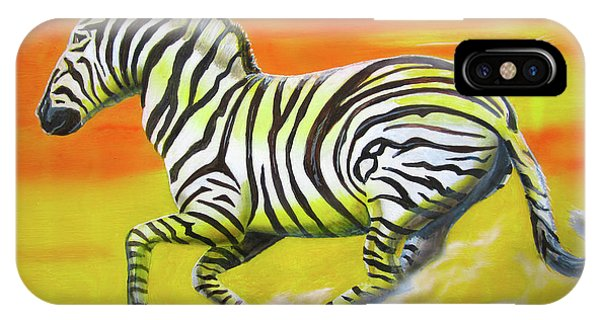 Zebra Kicking Up Dust IPhone Case
