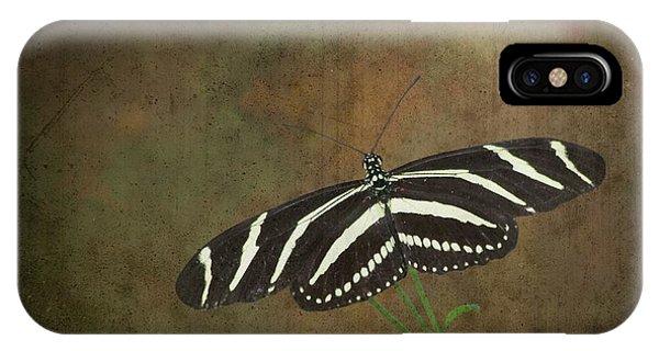 Zebra Longwing  Butterfly-1 IPhone Case
