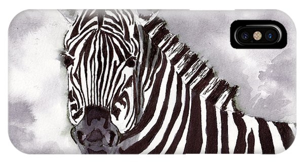 iPhone Case - Zebra by Michael Rados