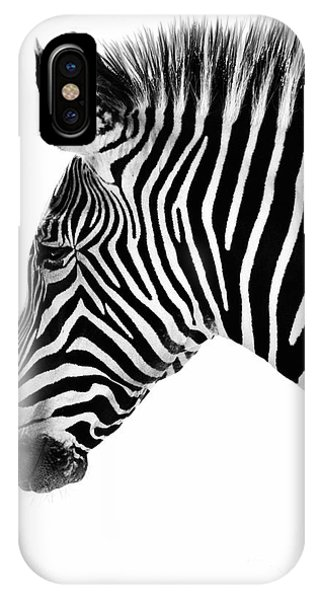 Zebra Profile Black And White IPhone Case