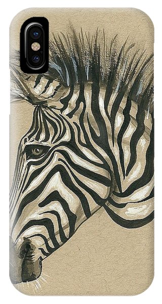 Zebra Profile IPhone Case