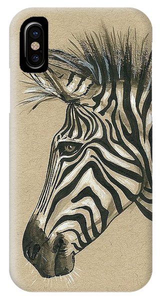 Zebra Profile IPhone Case