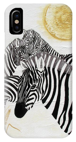Zebra Quintet IPhone Case