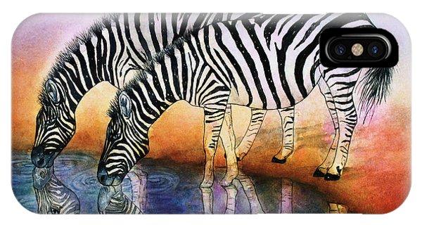 Zebra Reflections IPhone Case