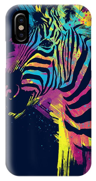 Digital iPhone Case - Zebra Splatters by Olga Shvartsur